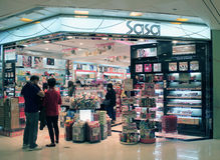 Tienda de Sasa en Hong-Kong Imágenes de archivo libres de regalías