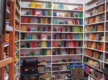 Tienda de seda del hilo Fotografía de archivo libre de regalías