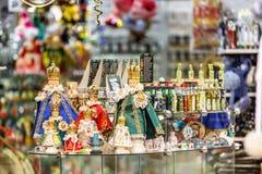 Tienda de souvenirs en el mercado de los havels Foto de archivo libre de regalías
