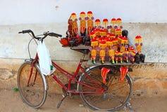 Tienda de souvenirs en la bici La India Fotos de archivo