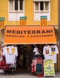 Tienda de souvenirs en Valencia, España Foto de archivo