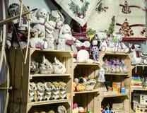 Tienda de souvenirs de la Navidad foto de archivo