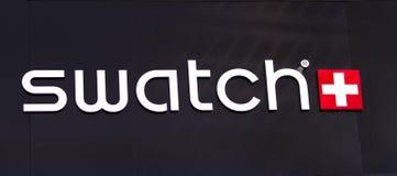 Tienda de Swatch imagen de archivo libre de regalías