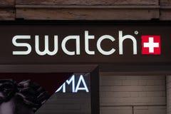 Tienda de Swatch fotografía de archivo