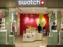 Tienda de Swatch foto de archivo libre de regalías