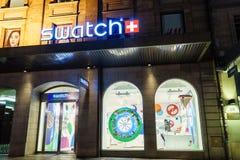 Tienda de Swatch imagen de archivo