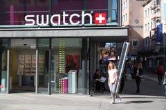 Tienda de Swatch fotos de archivo libres de regalías