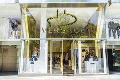 Tienda de Versace, Barcelona Foto de archivo