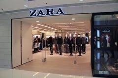 Tienda de Zara en Hong-Kong Imagen de archivo libre de regalías