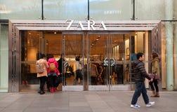 Tienda de Zara en Pekín Foto de archivo libre de regalías
