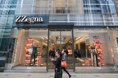 Tienda de Zzegna en Hong-Kong Imagen de archivo libre de regalías