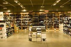 Tienda del alcohol Fotos de archivo libres de regalías