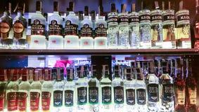 Tienda del alcohol Imagenes de archivo
