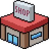 Tienda del arte del pixel del vector pequeña ilustración del vector