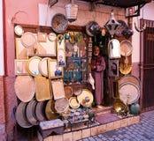Tienda del artesano en Marrakesh Fotografía de archivo