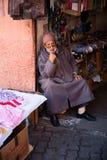 Tienda del artesano en Marrakesh Fotos de archivo