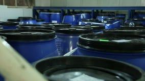 Tienda del barril con los cosméticos almacen de video