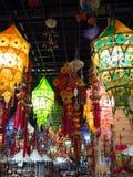 Tienda del chino con las lámparas de la tela Foto de archivo libre de regalías