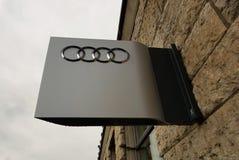 Tienda del coche de Audi fotografía de archivo
