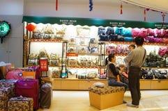 Tienda del equipaje Fotos de archivo libres de regalías