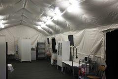 Tienda del hospital de campaña Fotografía de archivo libre de regalías