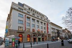 Tienda del juguete de Hamleys en el tiempo de Advent Christmas en la calle de Praga Foto de archivo libre de regalías