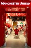 Tienda del Manchester United imágenes de archivo libres de regalías