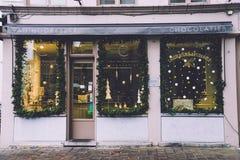 Tienda del paraguas de la Navidad de Gante Imagen de archivo