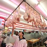 Tienda del pollo Foto de archivo libre de regalías