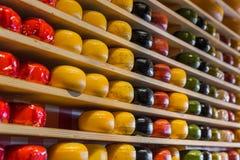 Tienda del queso en el Gouda Países Bajos Fotos de archivo libres de regalías