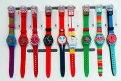 Tienda del reloj de Swatch fotografía de archivo