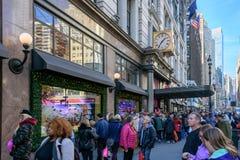 Tienda del ` s Herald Square de Macy adornada para la Navidad Imagen de archivo