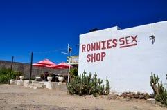 Tienda del sexo de Ronnies - Karoo de Klein, Suráfrica Fotos de archivo libres de regalías