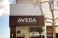 Tienda del skincare de Aveda fotos de archivo