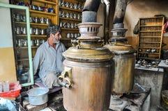 Tienda del té en Afganistán Fotos de archivo libres de regalías
