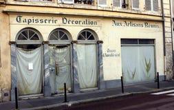 Tienda del tapicero y del decorador imágenes de archivo libres de regalías