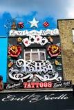 Tienda del tatuaje en Londres Fotografía de archivo libre de regalías
