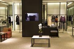 Tienda elegante de la moda Foto de archivo libre de regalías