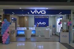 Tienda elegante del teléfono de VIVO Fotos de archivo libres de regalías