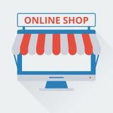 Tienda en línea bicolor del icono Fotos de archivo libres de regalías
