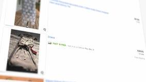Tienda en línea EBAY Ropa en línea de las compras en la tienda en línea metrajes