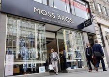 Tienda en la calle de Oxford, Londres de Moss Bros imagen de archivo