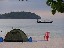 Tienda en la playa Imagenes de archivo