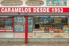 Tienda española de la confitería Foto de archivo libre de regalías