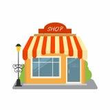Tienda, fachada del edificio de tienda de la calle ilustración del vector