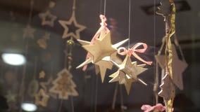 Tienda Front Decoration de la Navidad almacen de metraje de vídeo