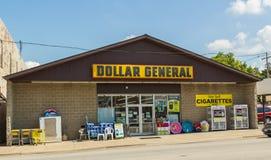 Tienda general del dólar Imagen de archivo libre de regalías