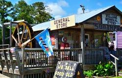 Tienda general Southport, NC del pueblo Foto de archivo libre de regalías