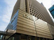 Tienda grande de la casa de moda Cartier en Hong-Kong Imagen de archivo