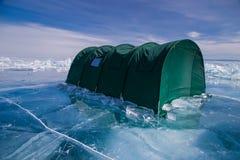 Tienda grande en el hielo Fotos de archivo